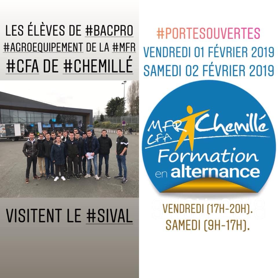 MFR-CFA Chemillé : Visite du SIMA pour les élèves.