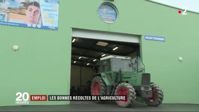Vidéo sur reportage JT 20h France 2 tourné à la MFR-CFA de Chemillé