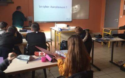 MFR-CFA Chemillé : Intervention de l'association ACVS49 sur le harcèlement.