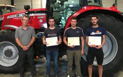 """MFR-CFA : 3 jeunes récompensés au """"Trophée des jeunes Talents"""" du Choletais."""
