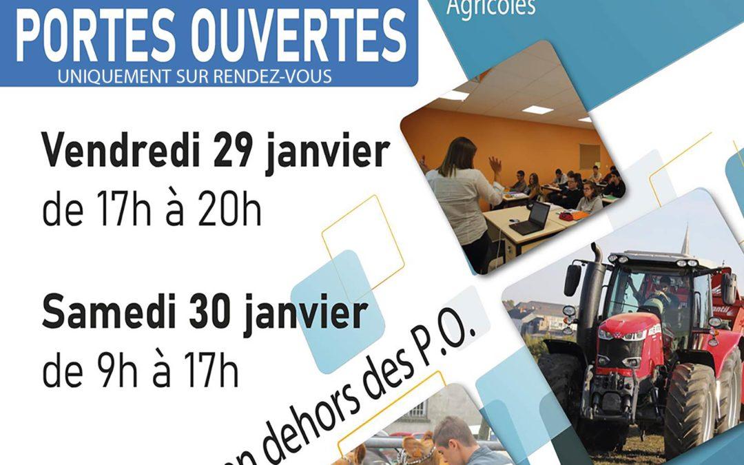 MFR-CFA Chemillé : PORTES OUVERTES de janvier uniquement sur R.D.V. !